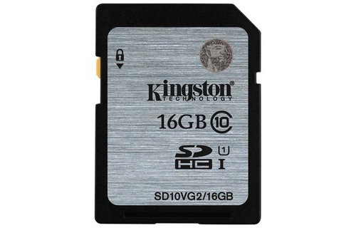 The nho SDHC Kingston 16GB Class 10 UHS-I SD10VG2/16GB