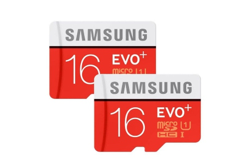 The nho MicroSDHC Samsung Evo Plus 16GB