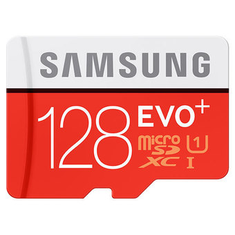 The nho MicroSDXC SAMSUNG 128GB EVO+