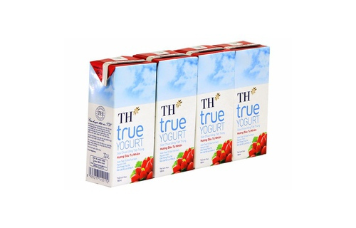 Sua Chua Uong TH True YoGurt Vi Dau 180ml