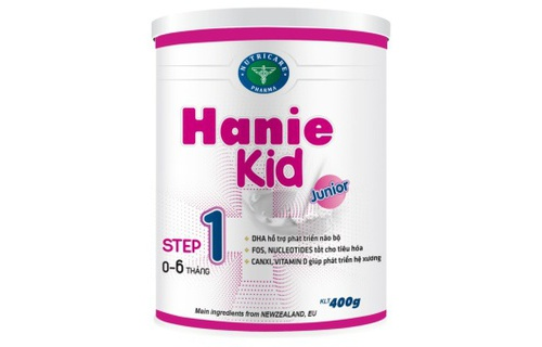 Sua bot Hanie Kid so 1, so 2 cho tre bieng an
