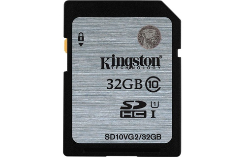 The nho SDHC Kingston 32GB Class 10 UHS-I