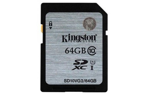 The nho SDXC Kingston 64GB Class 10 UHS-I